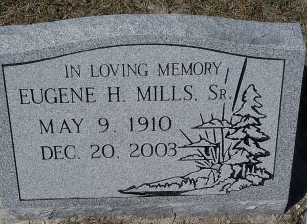 Eugene H. Mills Gravestone Photo
