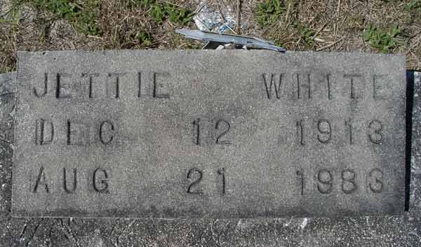 Jettie White Gravestone Photo