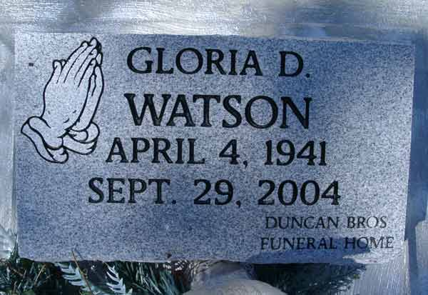Gloria D. Watson Gravestone Photo