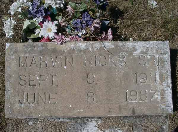 Marvin Ricks Gravestone Photo
