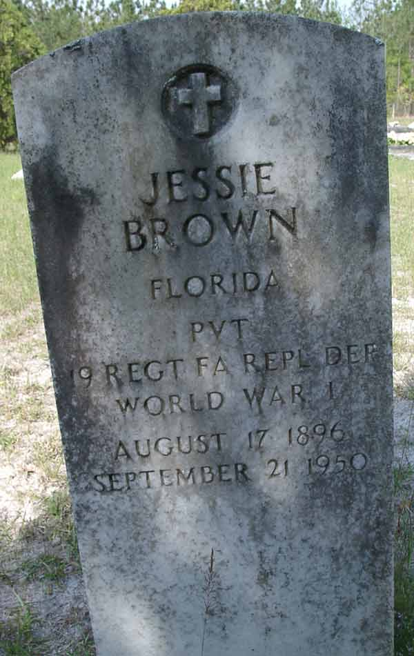 Jessie Brown Gravestone Photo